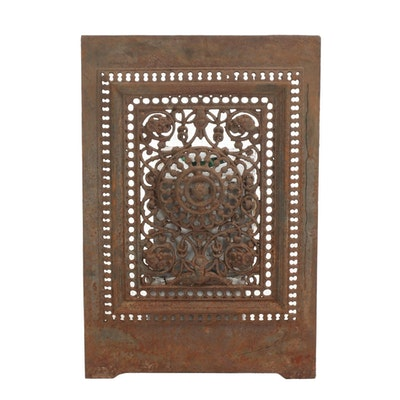Victorian Openwork Cast Iron Fireplace Cover