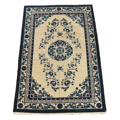 Hand-Knotted Chinese Peking Wool Area Rug, Early 20th Century