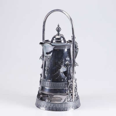 Simpson, Hall, Miller & Co. Silver Plate Teapot with Stand
