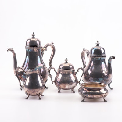 "International Silver ""Georgian Court"" Silver Plate Tea Set"