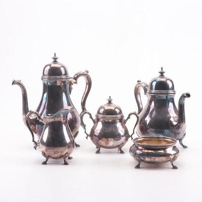 """International Silver """"Georgian Court"""" Silver Plate Tea Set"""