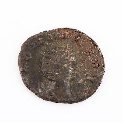 Ancient Roman Salonina Antoninianus Coin, Circa 253-268 AD