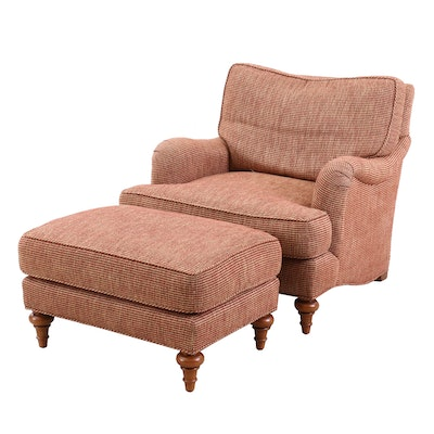 Brown Upholstered Armchair