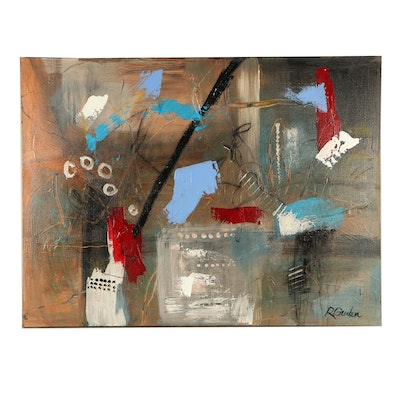 "Randy Groden Mixed Media Painting ""Ragusa"""