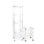 Two Contemporary Steel Wire Rolling Shelving Units, Including Seville Classics