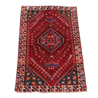 Hand-Knotted Persian Luri Wool Rug