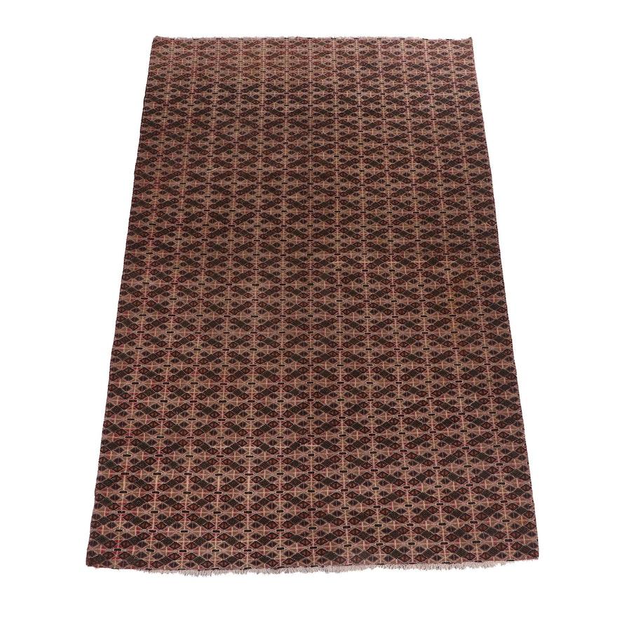 Hand-Knotted Afghani Herati Wool Rug