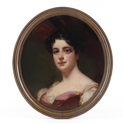 19th Century Portrait Oil Painting