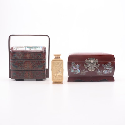 East Asian Decor including Music Jewelry Box
