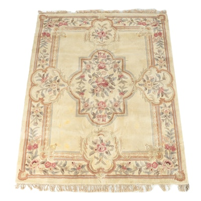Hand-Tufted Nourison Juliette Aubusson Collection Wool Area Rug