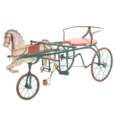 Children's Horse-Led Pedal Car, Early to Mid 20th Century