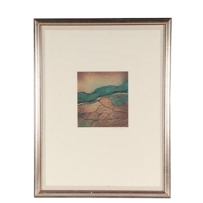 Dale Moses Landscape Offset Lithograph