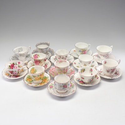 Assorted English Bone China Tea Settings