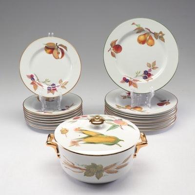 "Royal Worcester ""Evesham"" and ""Evesham Vale"" Porcelain Dinnerware"