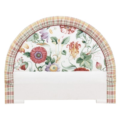 Floral Upholstered Headboard, Queen-Size