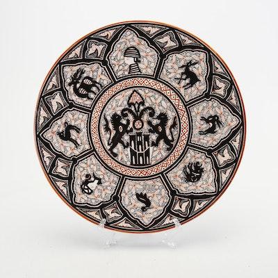 Hand-Painted Portuguese Earthenware Platter
