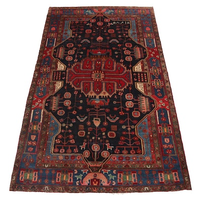 5'2 x 9'8 Hand-Knotted Persian Nahavand Long Rug, circa 1970