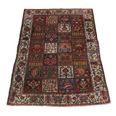4'10 x 6'6 Hand-Knotted Persian Bakhtiari Rug, circa 1920