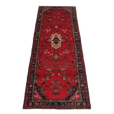 3'9 x 10'3 Hand-Knotted Persian Lilihan Carpet Runner, circa 1970