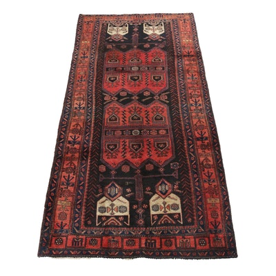 4'6 x 9'7 Hand-Knotted Northwest Persian Long Rug, circa 1950