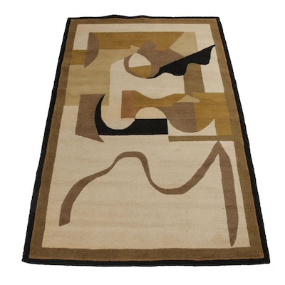5'0 x 7'9 Hand-Tufted Chinese Mid Century Style Rug
