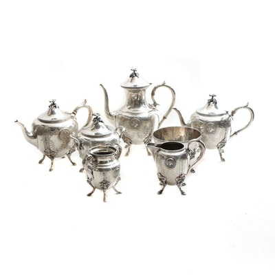 Parker & Casper Neoclassical Silver Plate Tea and Coffee Service, 1866-1869