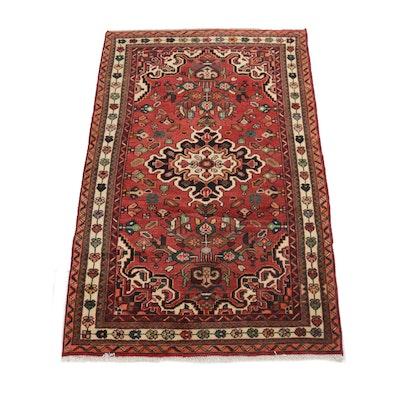 3'8 x 6'3 Hand-Knotted Persian Zanjan Rug, circa 1970