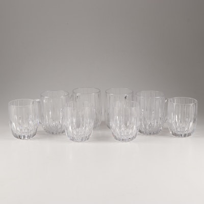 "Mikasa Crystal ""Park Lane"" Mugs and Double Old Fashioned Glasses"
