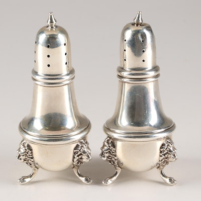 Poole Sterling Silver Shakers with Lions Head Paw Feet