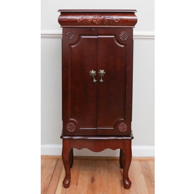 Jewelry Armoire with Carved Accents
