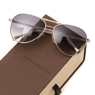 Louis Vuitton Z0203U Damier Azur Conspiration Pilote Aviator Sunglasses