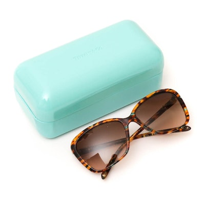 Tiffany & Co. 4057-B Tortoiseshell- Style Sunglasses