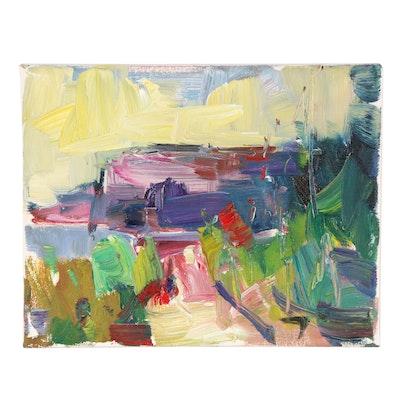 "Jose Trujillo Oil Painting ""Wild + Freeland"""