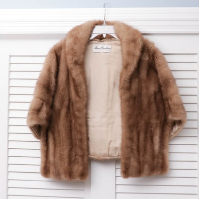 Mink Fur Stole from Maas Brothers of Florida, Vintage