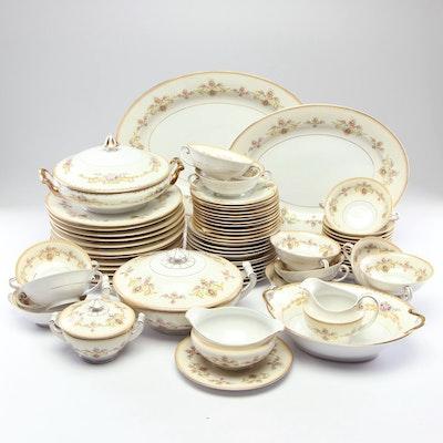 Moritz Zdekauer Austrian Porcelain Dinnerware, 1940s