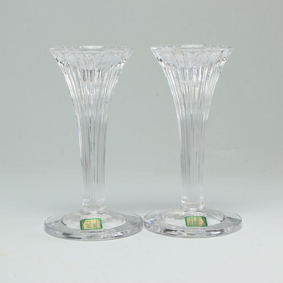 "Marquis by Waterford ""Corinth"" Crystal Candlesticks"