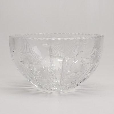 American Brilliant Period Cut Crystal Fruit Bowl