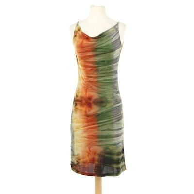 Versace Sleeveless Bodycon Dress with Draping, 1990s