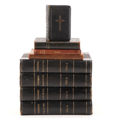 """Antique """"Scribner's Monthly"""" Four Volume Set with Danish Poetry and More"""