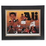 Framed Muhammad Ali Signed Limited Lithograph  Visual COA