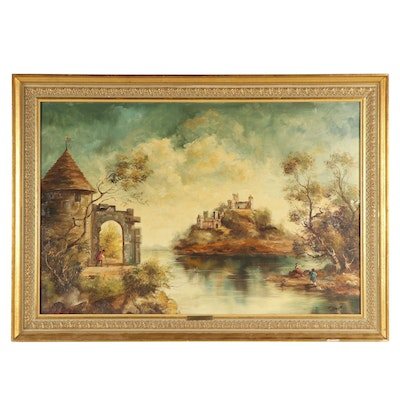 F. Ruppert Landscape Oil Painting
