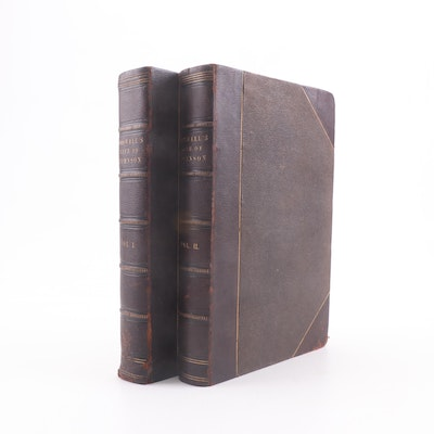 """1833 """"The Life of Samuel Johnson"""" in Two Volumes by James Boswell"""