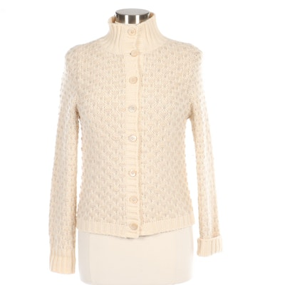 Effetto F Cashmere Cardigan Sweater in Ivory