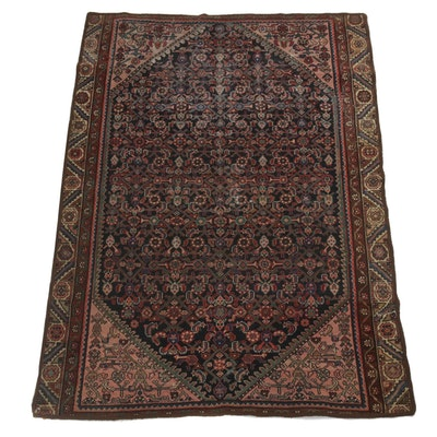 3'11 x 5'7 Hand-Knotted Persian Malayer Rug, circa 1920