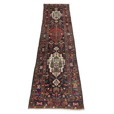 3'8 x 14'1 Hand-Knotted Persian Bakhtiari Carpet Runner, circa 1930