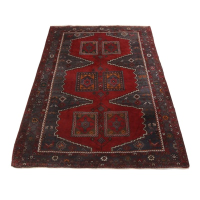 7'1 x 9'11 Hand-Knotted Northwest Persian Rug, circa 1950