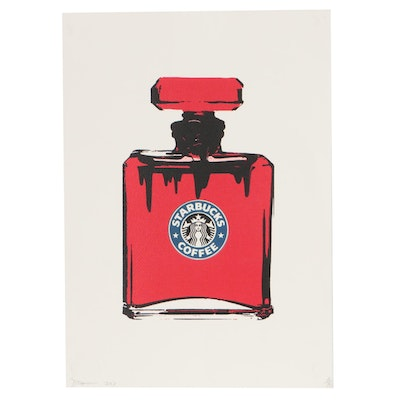 "Death NYC Graphic Print ""Coffee Perfume Red"""