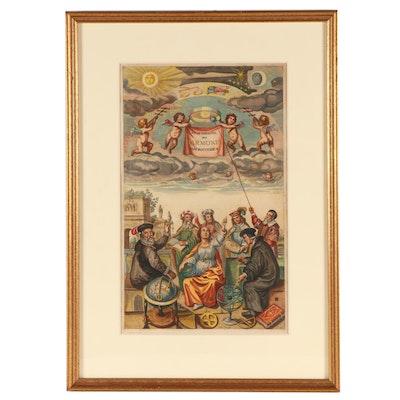 """Andreas Cellarius Engraving """"Atlas Coelestis seu Harmonia Macrocosmica"""""""