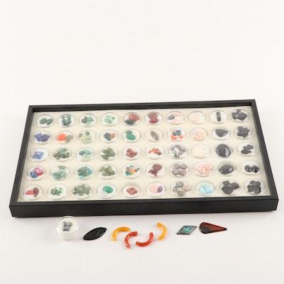 Loose Gemstones including Diamond, Larimar, Jadeite, Quartz and Malachite