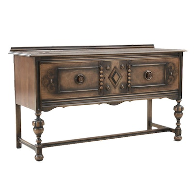 Berkey & Gay Jacobean Style Walnut Sideboard, Early 20th Century